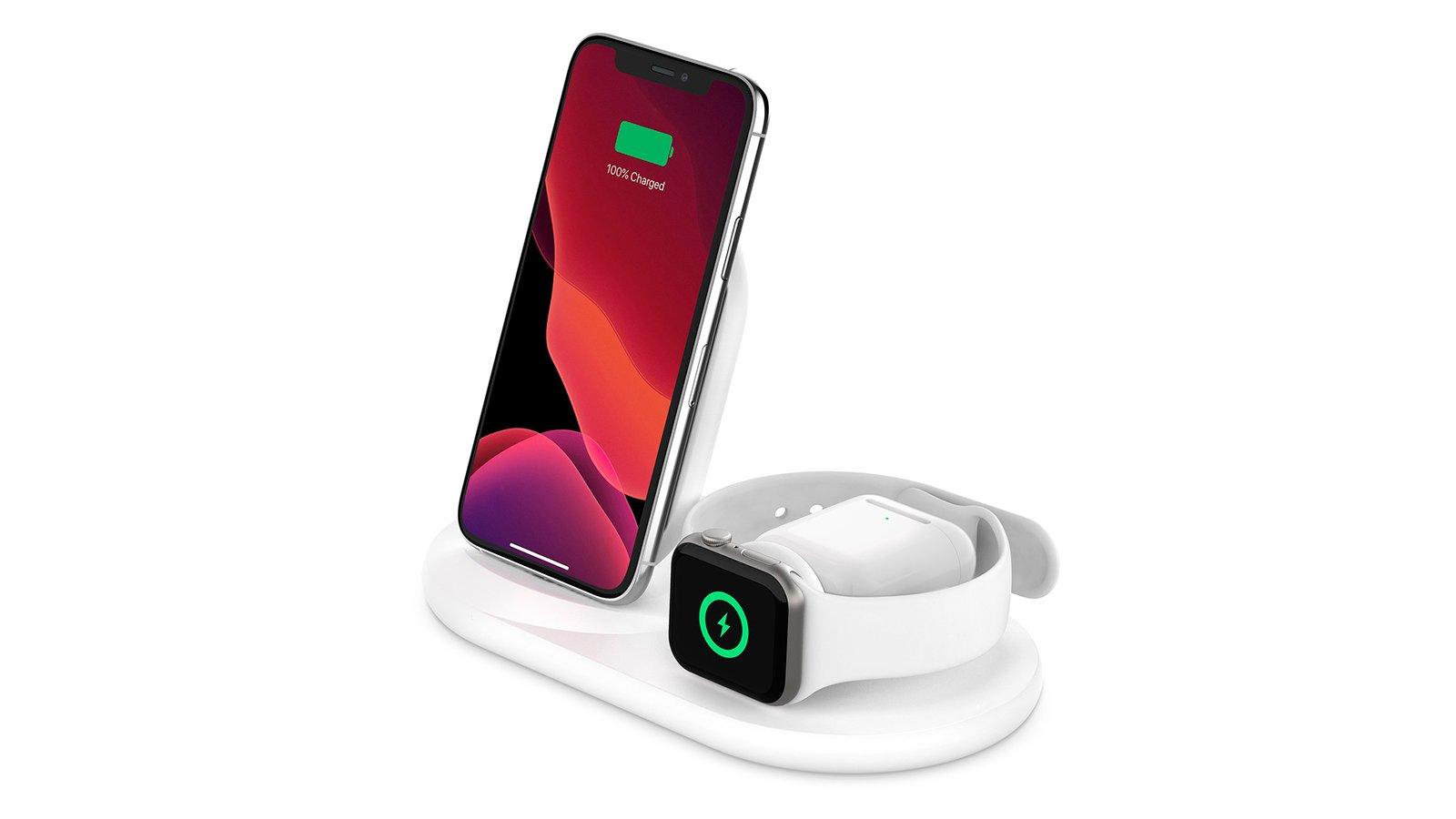 Док-станция Belkin Boost Charge может одновременно заряжать iPhone, Apple Watch и AirPods