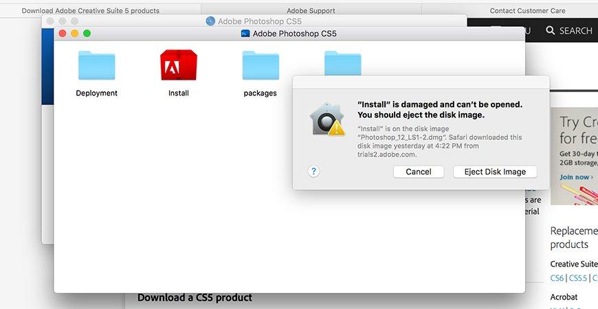 Как исправить ошибку Mac OS: Приложение повреждено и не может быть открыто. Вы должны извлечь образ диска.