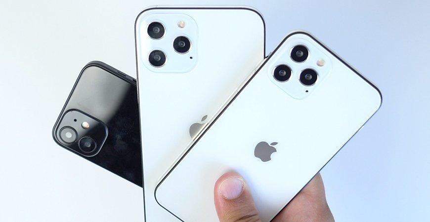 Сравнение моделей Apple iPhone 12 по размеру и дизайну