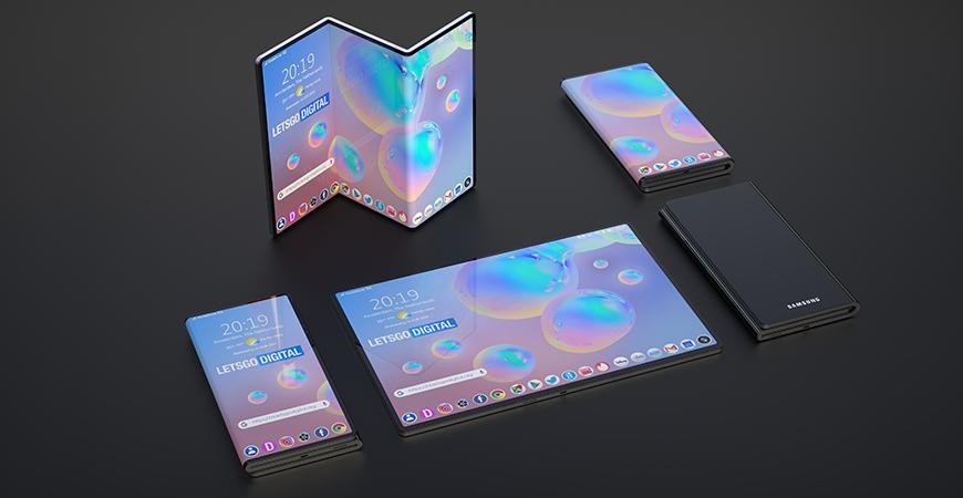 Samsung Display выложила в сеть два рисунка новых смартфонов с гибким дисплеем