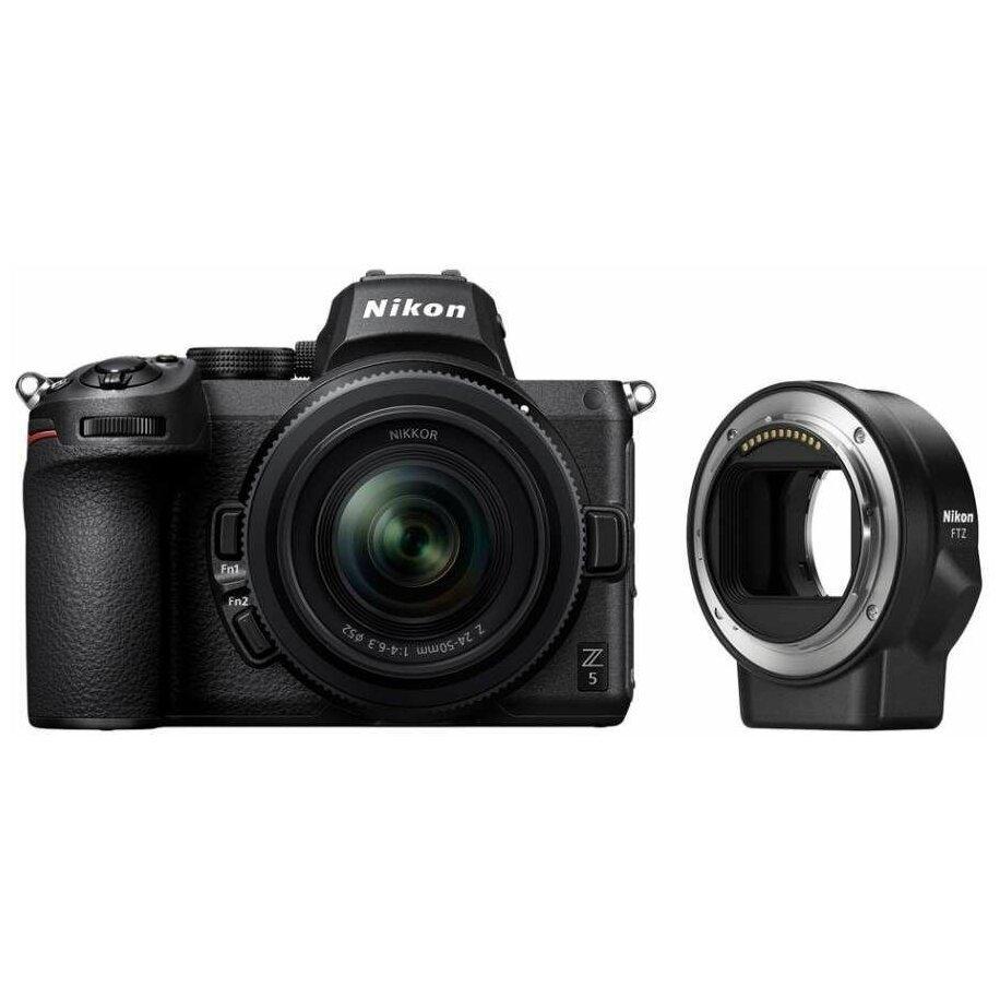 Цифровой фотоаппарат Nikon Z5 kit 24-50 f4-6.3 + FTZ адаптер