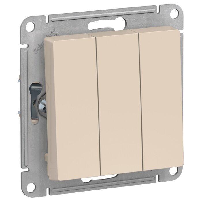 Выключатель 3х1-полюсный Schneider Electric AtlasDesign ATN000231,10А, бежевый