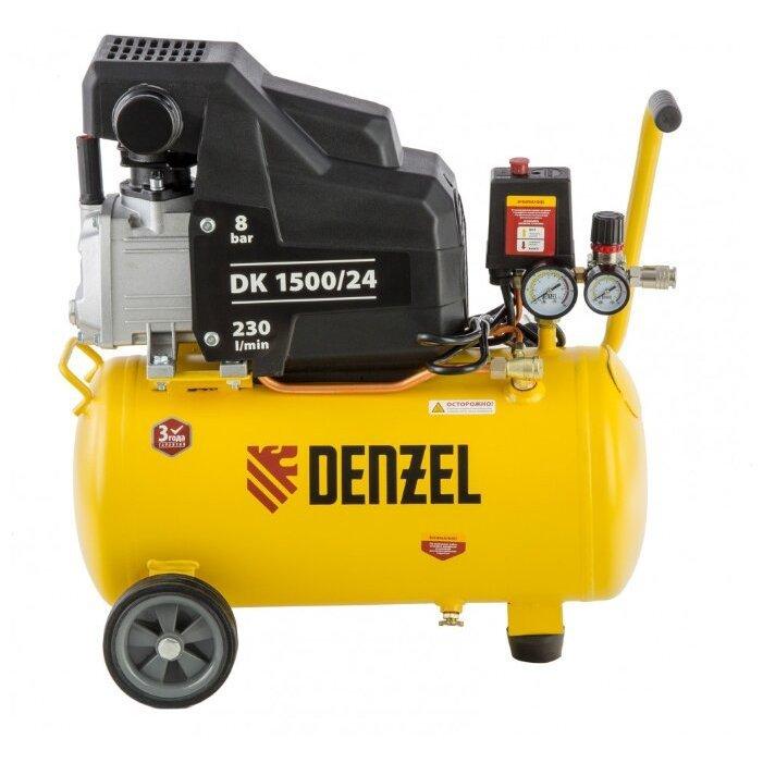 масляный Denzel DK 1500/24 Х-PRO, 24 л, 1.5 кВт