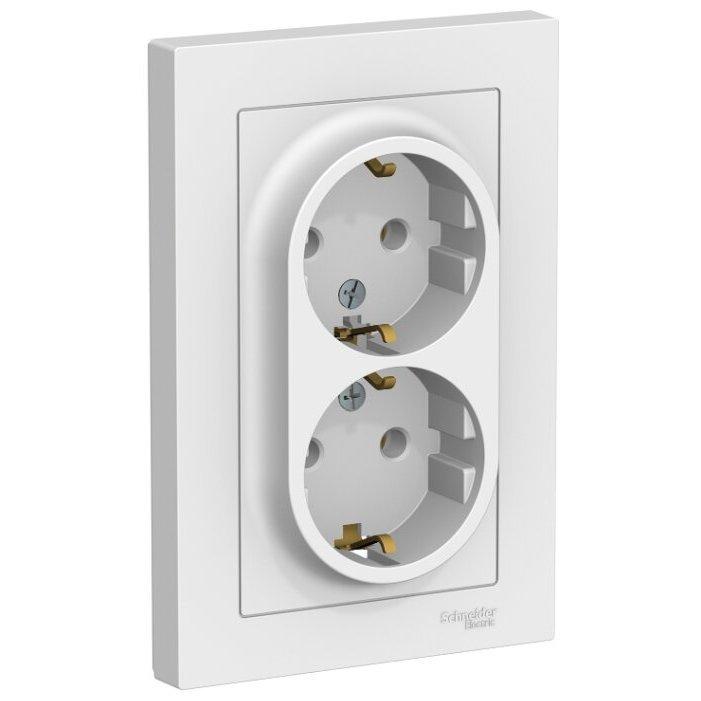 Розетка Schneider Electric AtlasDesign ATN000124,16А, с заземлением, белый