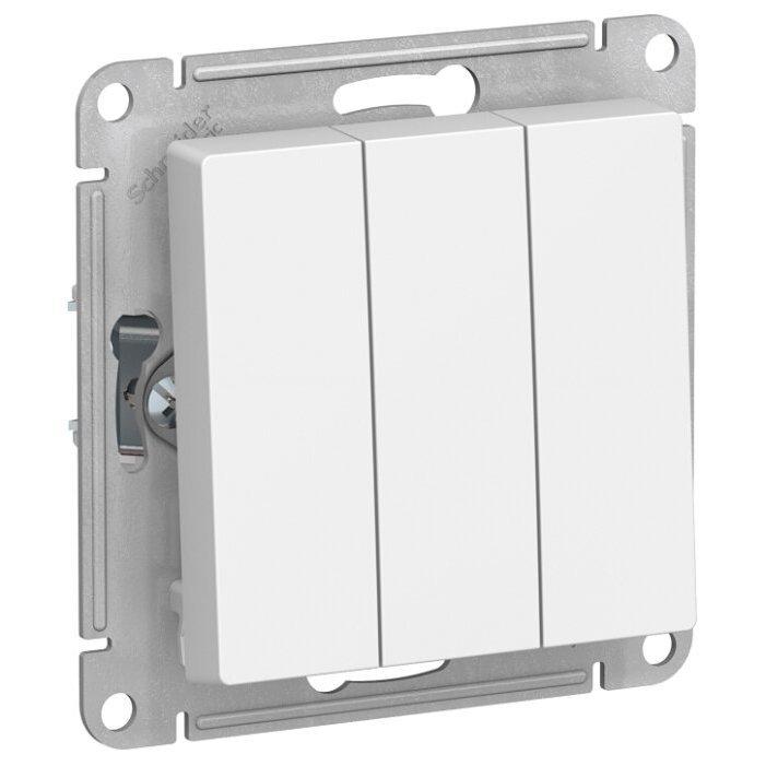 Выключатель 3х1-полюсный Schneider Electric AtlasDesign ATN000131,10А, белый