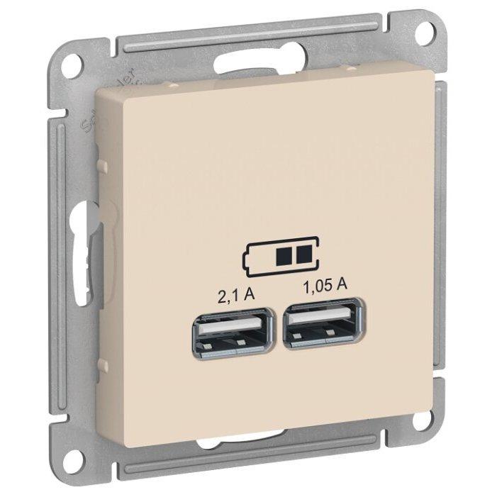 USB розетка Schneider Electric AtlasDesign ATN000233,5А, бежевый