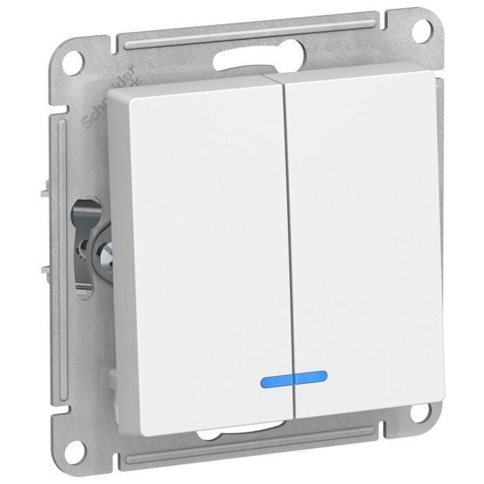 Выключатель 2х1-полюсный Schneider Electric AtlasDesign ATN000153,10А, белый