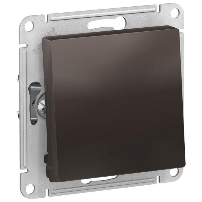 Выключатель 1-полюсный Schneider Electric AtlasDesign ATN000661,10А, коричневый