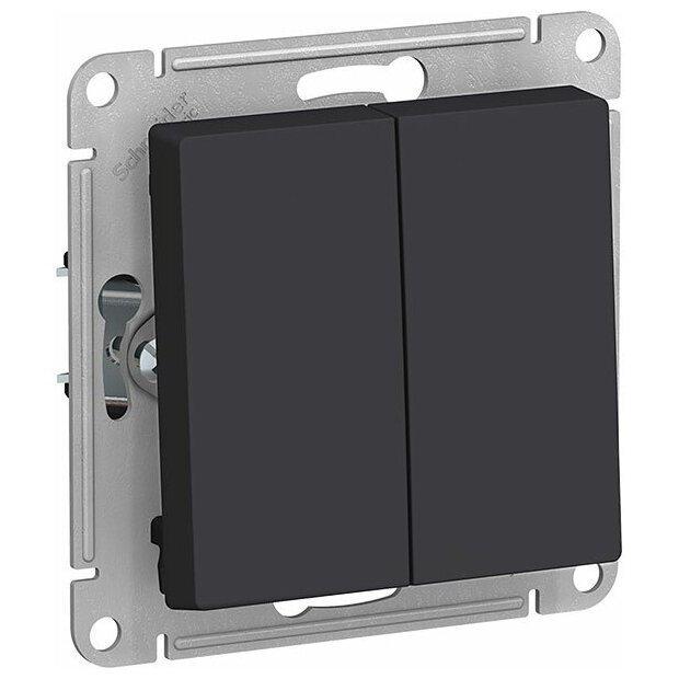Выключатель Schneider Electric ATN001051 AtlasDesign, 10 А, карбон