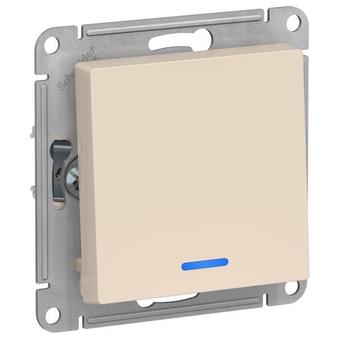 Выключатель 1-полюсный Schneider Electric AtlasDesign ATN000213,10А, бежевый