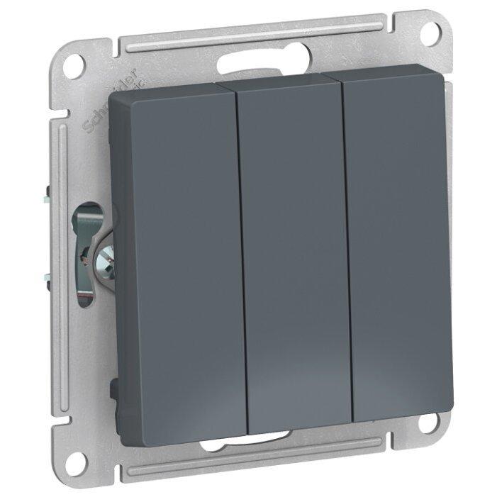 Выключатель 3х1-полюсный Schneider Electric AtlasDesign ATN000731,10А, серый