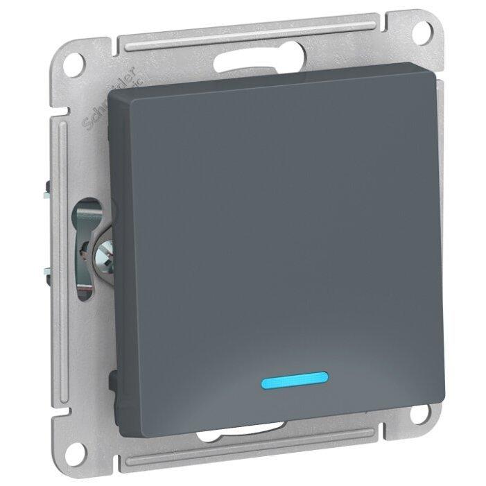 Выключатель 1-полюсный Schneider Electric AtlasDesign ATN000713,10А, серый