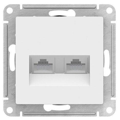 Телекоммуникационная розетка Schneider Electric ATN000185, белый