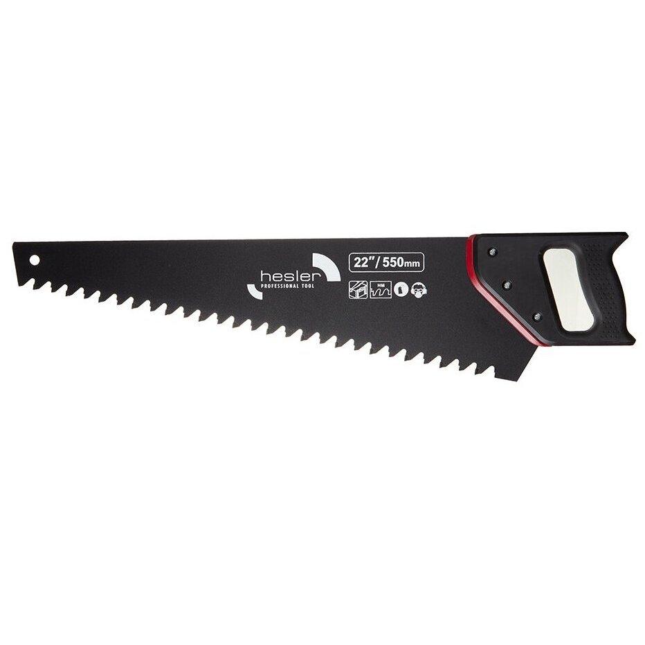 Ножовка по газобетону Hesler 550 мм крупный зуб 14 напаек
