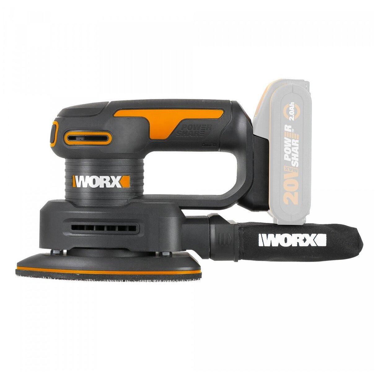 Worx Аккумуляторная виброшлифмашина WORX WX822.9
