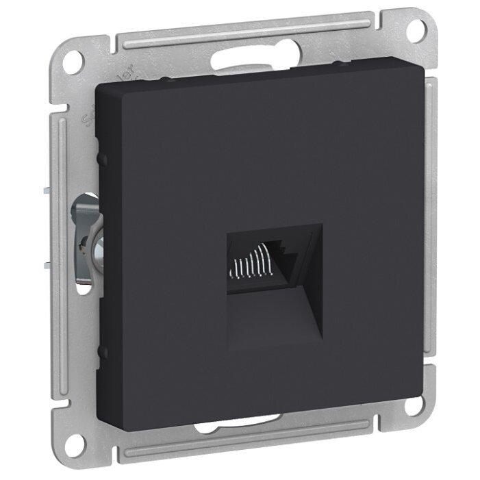 Розетка для интернета / телефона Schneider Electric AtlasDesign ATN001083, антрацит