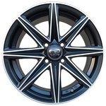 Sakura Wheels 3168 6.5x15/4x100 D67.1 ET38 Черный с полировкой