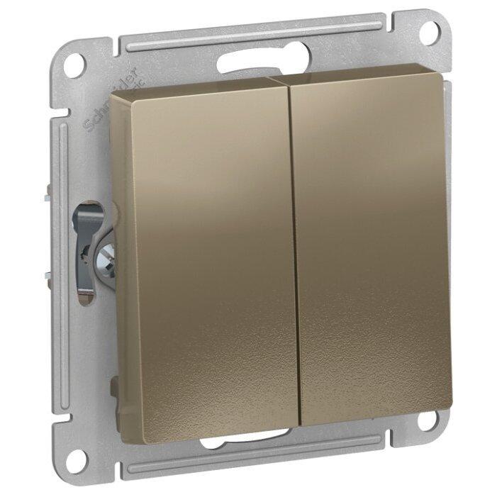Переключатель 2-х полюсный Schneider Electric AtlasDesign ATN000565,10А, слоновая кость