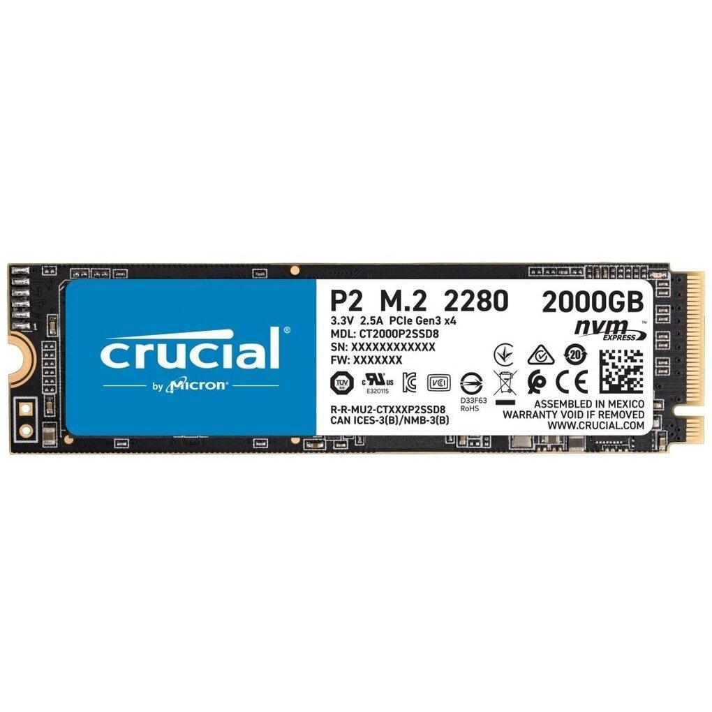 Внутренний SSD-накопитель 2000Gb Crucial P2 (CT2000P2SSD8) M.2 2280 PCIe NVMe 3.0 x4