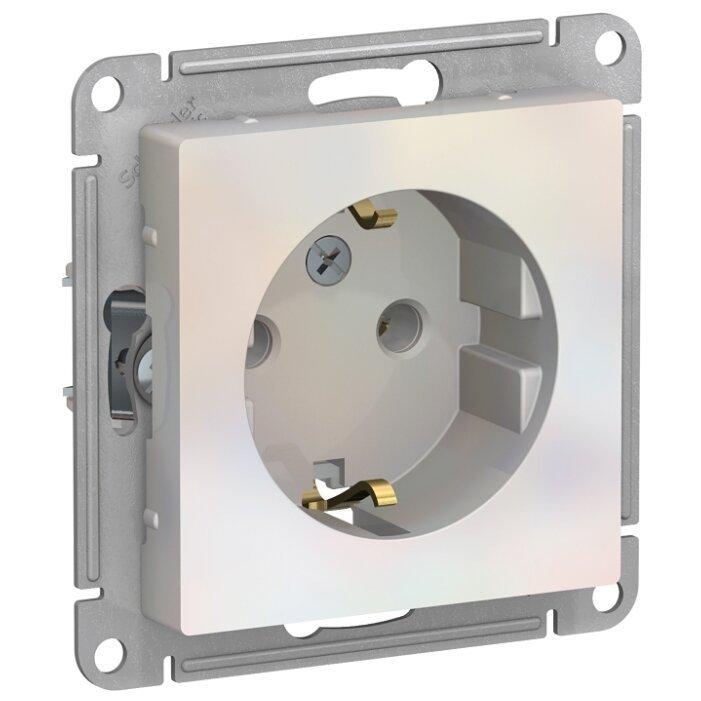 Розетка Schneider Electric AtlasDesign ATN000443,16А, с заземлением, жемчуг