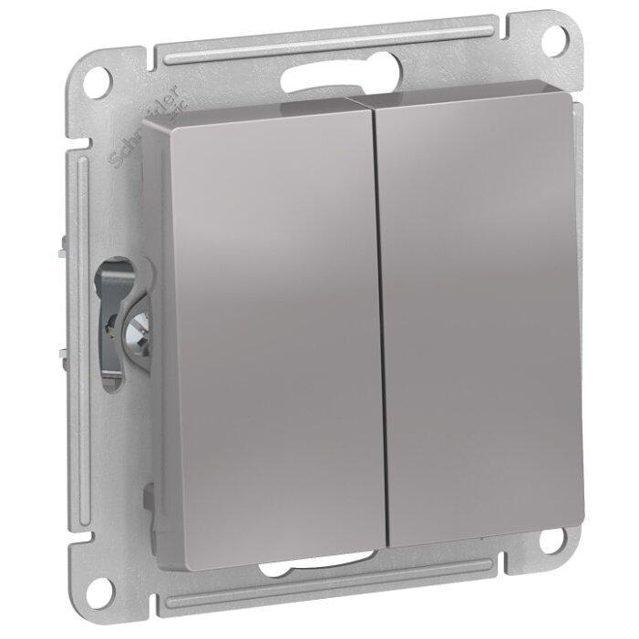 Переключатель 2-х полюсный Schneider Electric AtlasDesign ATN000365,10А, алюминиевый