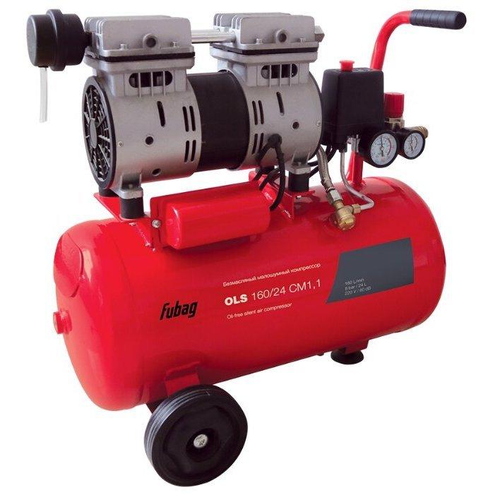 безмасляный Fubag OLS 160/24 CM 1.1, 24 л, 0.8 кВт