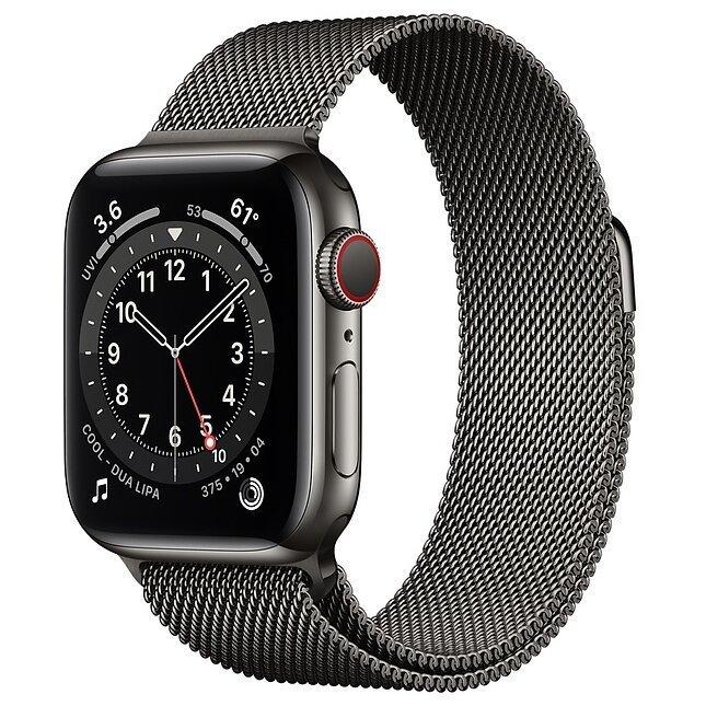 Умные часы Apple Watch Series 6 GPS + Cellular 40mm Stainless Steel Case with Milanese Loop