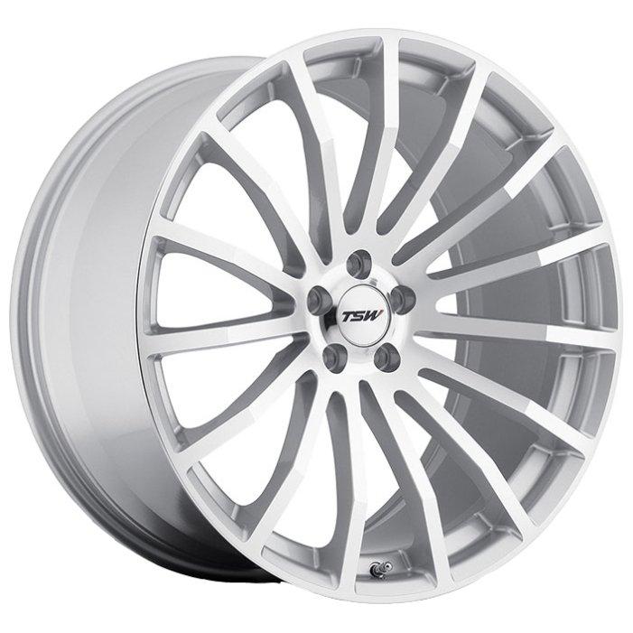 TSW Mallory 8x18/5x112 D72 ET45 Silver