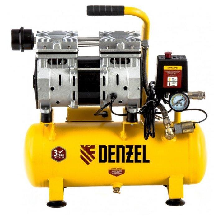 безмасляный Denzel DLS 650/10, 10 л, 0.65 кВт