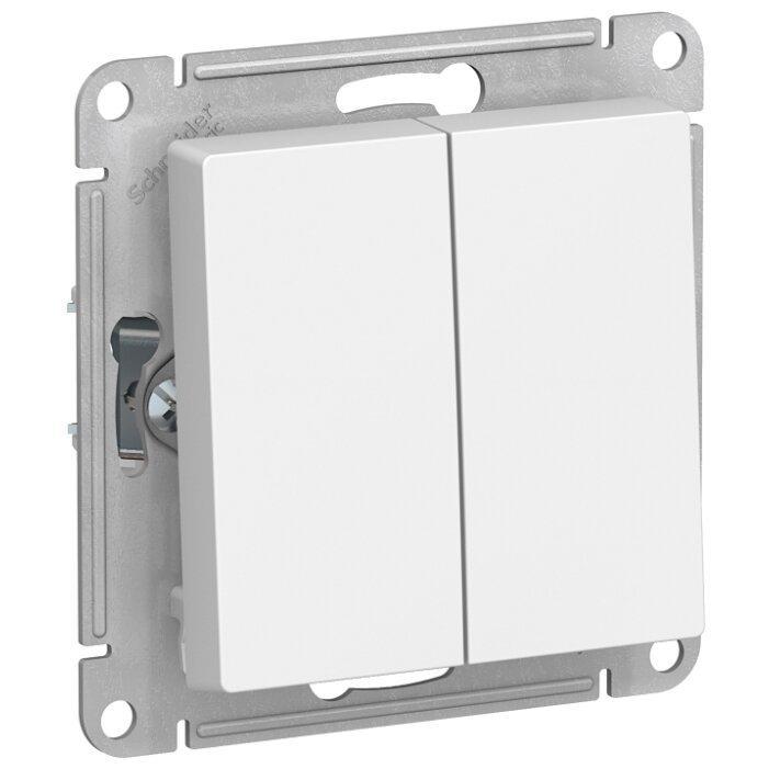 Выключатель 2х1-полюсный Schneider Electric AtlasDesign ATN000165,10А, белый