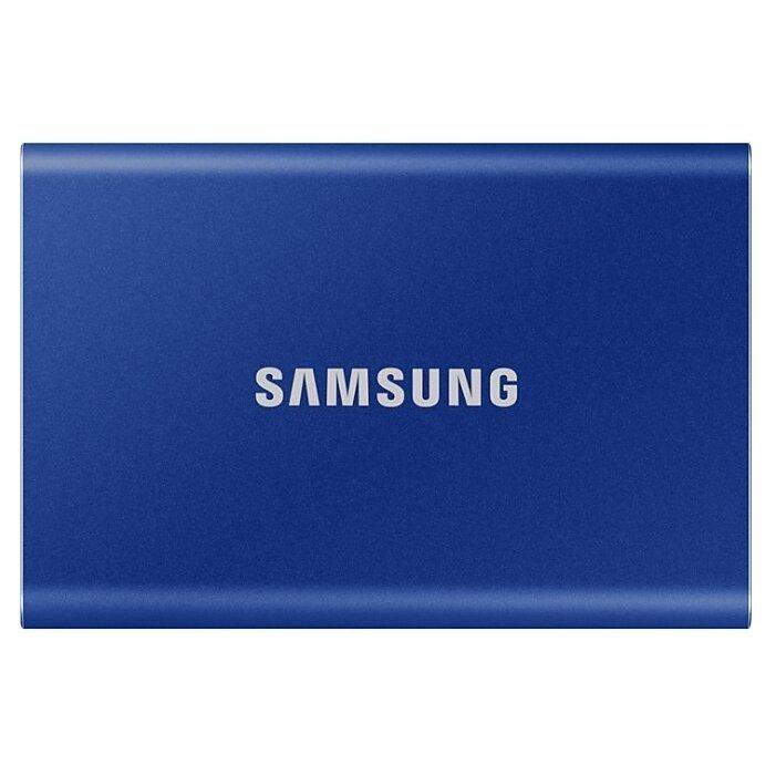 Портативный SSD Samsung T7, 500Gb, Indigo Blue (MU-PC500H/WW)