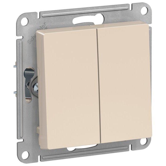 Выключатель 2х1-полюсный Schneider Electric ATN000251,10А, бежевый