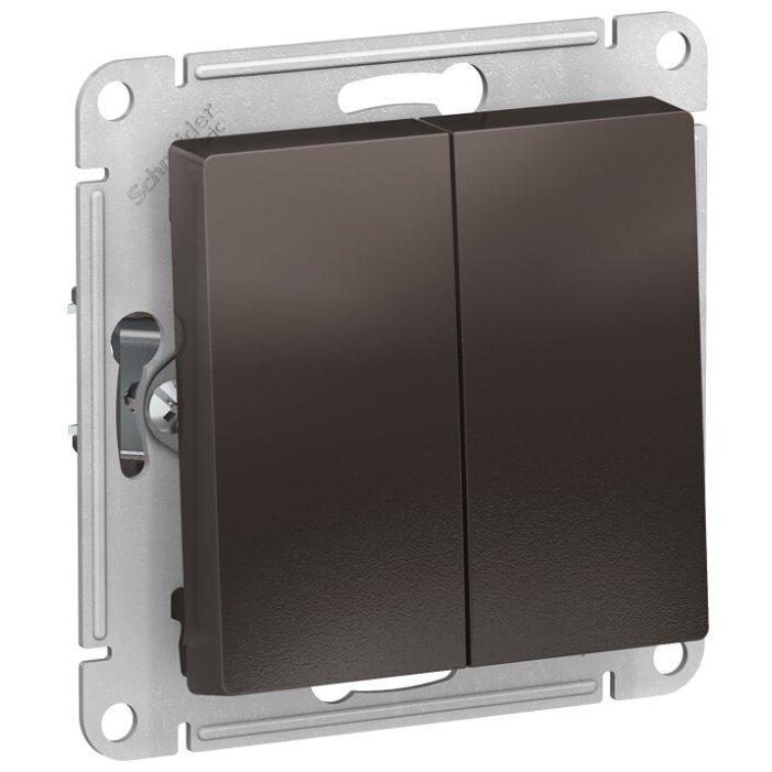 Выключатель 2х1-полюсный Schneider Electric AtlasDesign ATN000665,10А, коричневый