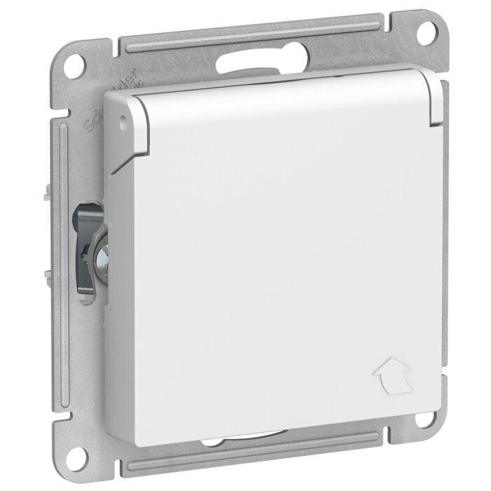 Розетка Schneider Electric AtlasDesign ATN000146,16А, с защитной шторкой, с заземлением, белый