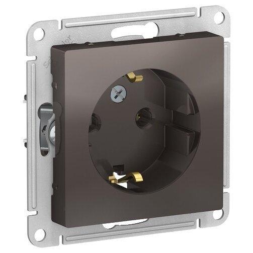 Розетка Schneider Electric AtlasDesign ATN000643,16А, с заземлением, коричневый