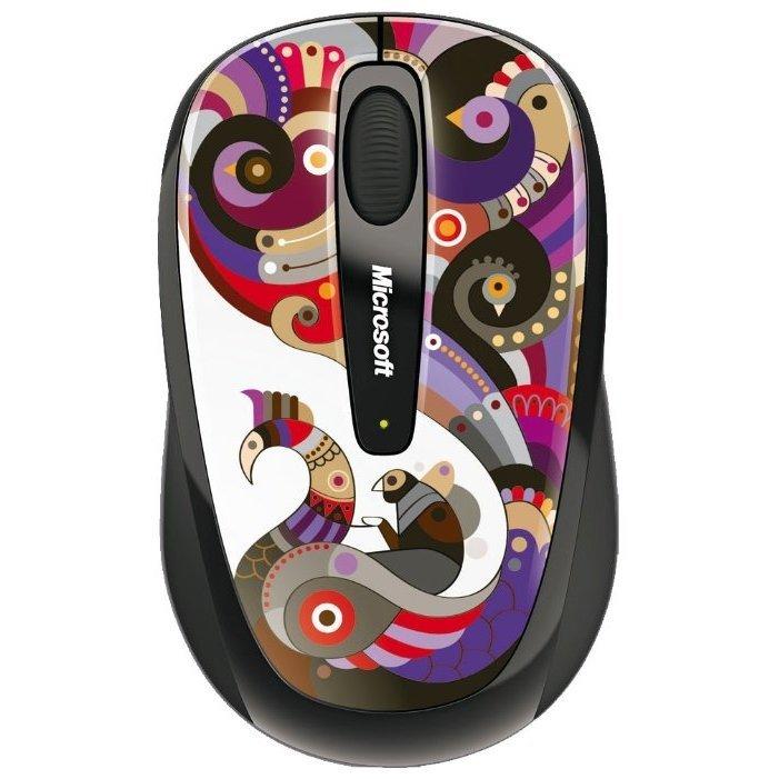 Microsoft Wireless Mobile Mouse 3500 Artist Edition Chamarelli Black-Blue USB