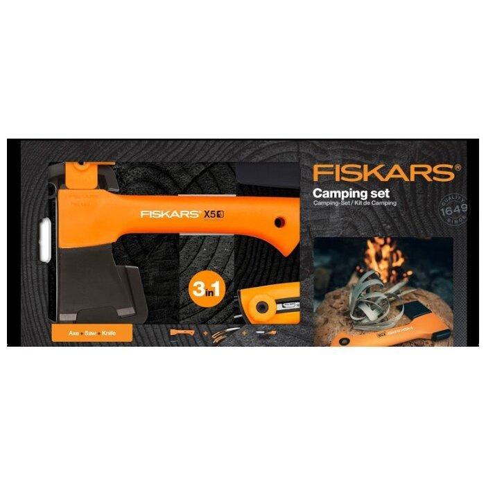 FISKARS Х5 + универсальный нож + садовая пила
