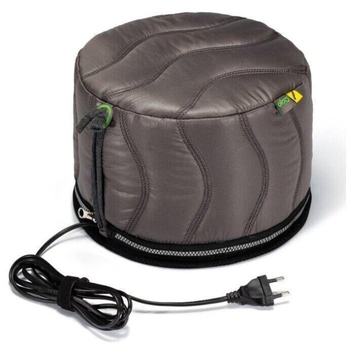 Термошапка для волос с угольной мембраной + двойная теплоизоляция Qojo SIRIUS CARBON (GRAY) 25X18 см