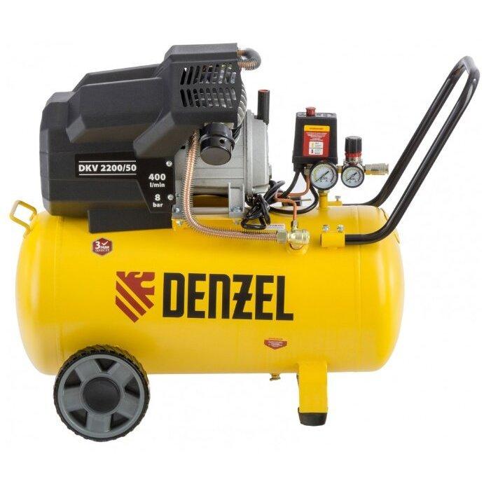 масляный Denzel DKV 2200/50 Х-PRO, 50 л, 2.2 кВт
